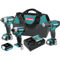 Makita CT411 12V max CXT 1.5 Ah Lithium-Ion 4-Piece Combo Kit image number 0