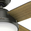 Hunter 59443 60 in. Dempsey with Light Noble Bronze Ceiling Fan with Light and Handheld Remote image number 2