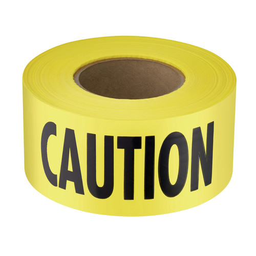 "Empire 71-1001 1,000 ft. x 3 in. ""Caution"" Barricade Tape (Yellow) image number 0"