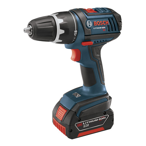 Factory Reconditioned Bosch DDS181-01-RT 18V Cordless Lithium-Ion Compact Tough 1/2 in. Drill Driver with 2 Fat Pack HC Batteries