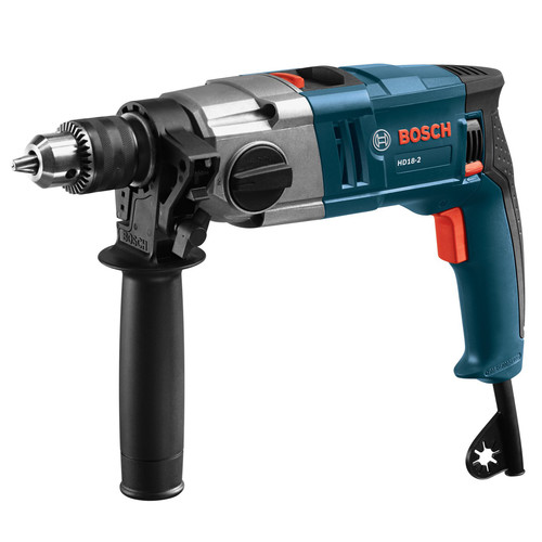 Factory Reconditioned Bosch HD18-2-RT 8.5 Amp 2-Speed 1/2 in. Corded Hammer Drill with 360-Auxiliary Handle image number 0
