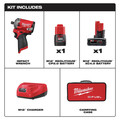 Milwaukee 2555P-22 M12 FUEL Stubby 1/2 in. Impact Wrench  Kit with Pin Detent image number 11
