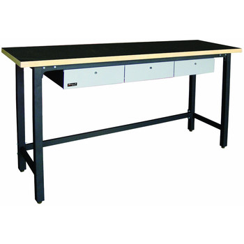 Homak GS00579030 79 in. 3 Drawer Wood Top Workbench