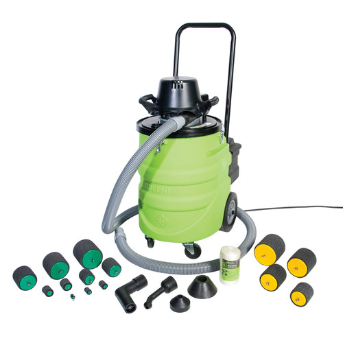 Greenlee 690-15 12 Gallon Wet/Dry Vacuum Power Fishing System with 15 ft. Hose