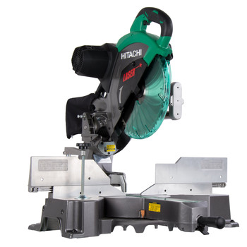 Factory Reconditioned Hitachi C12RSH2 15 Amp 12 in. Dual Bevel Sliding Compound Miter Saw with Laser Marker