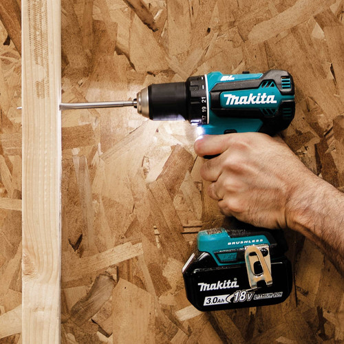 Makita XFD131 18V LXT Lithium-Ion Brushless Compact 1/2 in. Cordless Drill Driver Kit (3 Ah) image number 6