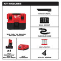 Milwaukee 0960-21 M12 FUEL Lithium-Ion Brushless 1.6 Gallon Cordless Wet/Dry Vacuum Kit (6 Ah) image number 1