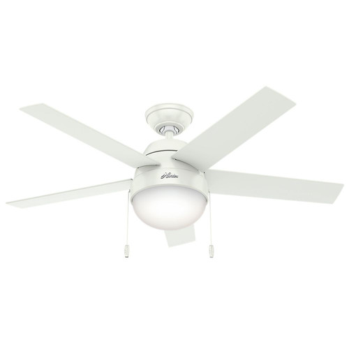 Hunter 59266 46 in. Anslee White Ceiling Fan image number 0