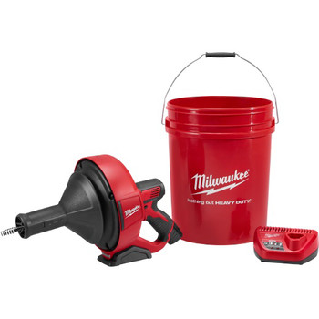 Milwaukee 2571-21 12V Cordless Lithium-Ion Drain Snake Kit with Bucket