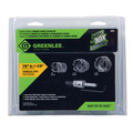 Greenlee 50006550 5-Piece Stainless Steel Carbide Tipped Hole Cutter Kit image number 2