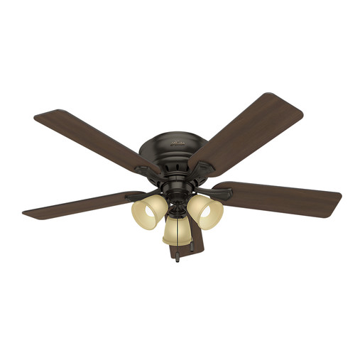 Hunter 53012 52 in. Reinert Premier Bronze Ceiling Fan with Light