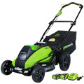 Greenworks 2500502 40V G-Max 4.0 Ah Lithium-Ion 19 in. DigiPro Lawn Mower image number 4
