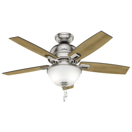 Hunter 52227 44 in. Donegan Brushed Nickel Ceiling Fan with Light