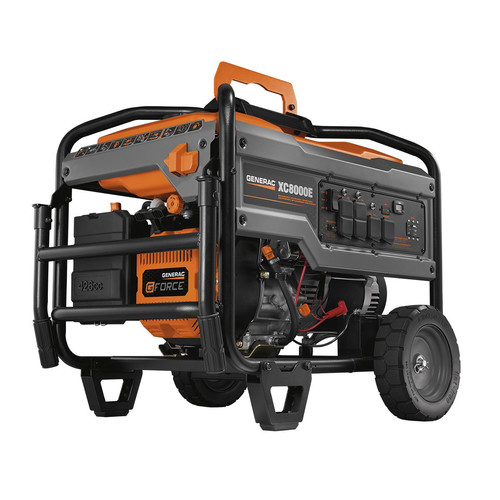 Generac XC8000E XC8000E 8,000 Watt Gas Portable Generator with Electric Start (CARB)