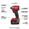 Milwaukee 2998-23 M18 FUEL Brushless Lithium-Ion Cordless 3-Tool Combo Kit (5 Ah) image number 3