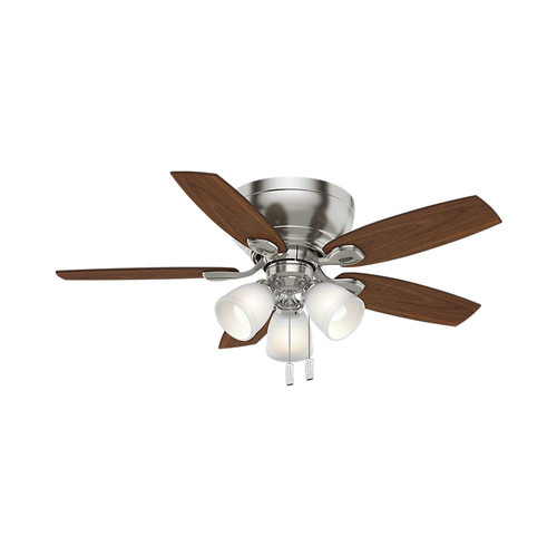 Casablanca 53187 44 in. Durant 3 Light Brushed Nickel Ceiling Fan with Light