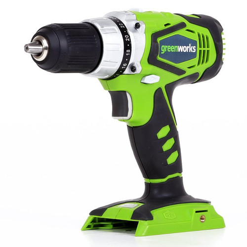 Greenworks 37012A G24 24V Cordless Lithium-Ion 1/2 in. Drill Driver (Bare Tool)