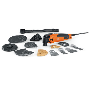 Fein 69908195468 MultiMaster Top Oscillating Multi-Tool and Best of Renovation Accessory Set Holiday Kit