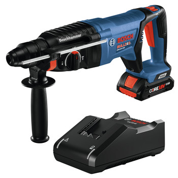 Bosch GBH18V-26DK15 18V EC Brushless Lithium-Ion SDS-plus Bulldog 1 in. Cordless Rotary Hammer Kit (4 Ah)