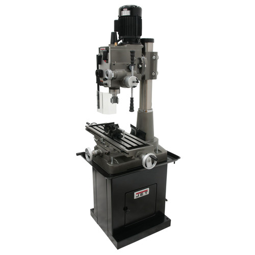JET 351160 JMD-45GHPF Geared Head Square Column Mill Drill with Power Downfeed and DP500 2-Axis DRO