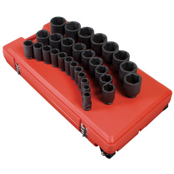Sunex 4695 29-Piece 3/4 in. Drive SAE Deep Impact Socket Set
