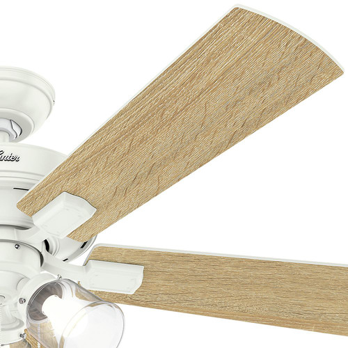 Hunter 54204 52 in. Crestfield Fresh White Ceiling Fan with Light image number 5