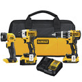 Factory Reconditioned Dewalt DCK387D1M1R 20V MAX XR Compact 3-Tool Combo Kit