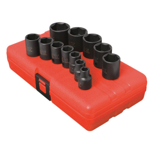 Sunex 3360 12-Piece 3/8 in. Drive SAE Impact Socket Set