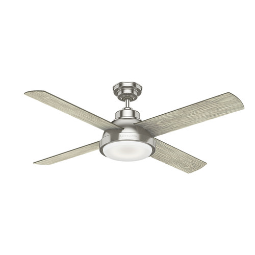 Casablanca 59433 54 in. Levitt Brushed Nickel Ceiling Fan with LED Light Kit and Wall Control image number 0