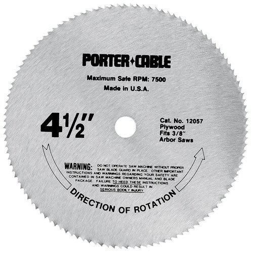 Porter-Cable 12057 4-1/2 in. 120 Tooth TCG Plywood Cutting Circular Saw Blade image number 0