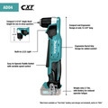 Makita AD04R1 12V max CXT Lithium-Ion 3/8 in. Cordless Right Angle Drill Kit (2 Ah) image number 5
