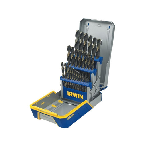 Irwin Hanson 3018005 29-Piece Black & Gold Metal Index Drill Bit Set image number 0