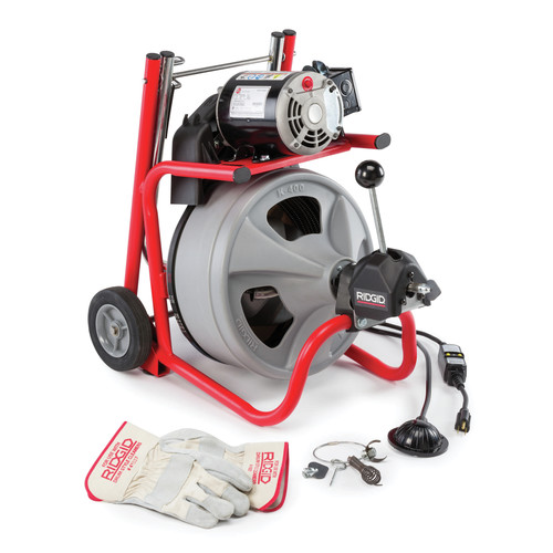 Ridgid K-400 AF w/C-45 IW 1/2 in. x 75 ft. Autofeed Wheeled Drum Machine image number 0