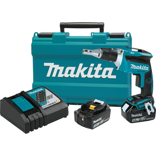 Makita XSF03T 18V LXT 5.0 Ah Lithium-Ion Brushless Cordless Drywall Screwdriver Kit image number 0