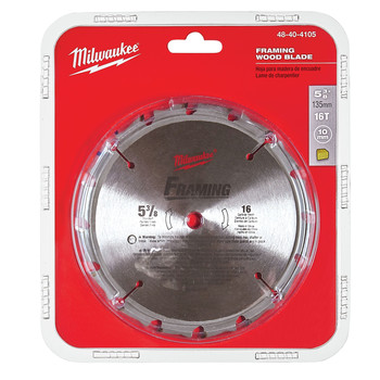 Milwaukee 48-40-4105 5-3/8 in. Framing Circular Saw Blade image number 1