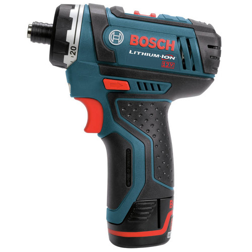 Bosch PS21-2A 12V Max Lithium-Ion 2-Speed 1/4 in. Cordless Pocket Driver Kit (2 Ah) image number 1