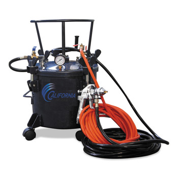 California Air Tools CAT-365 5 Gallon Pressure Pot with HVLP Spray Gun And Hose