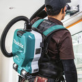 Makita XCV10PTX 18V X2 LXT (36V) Lithium-Ion Brushless 1/2 Gallon Cordless Backpack Dry Dust Extractor Kit with HEPA Filter, AWS Capable (5 Ah) image number 10