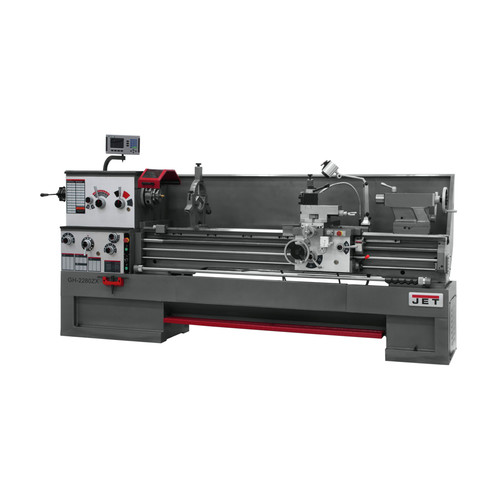 JET GH-2280ZX Lathe with 300S DROTaper Attachment and Collet Closer