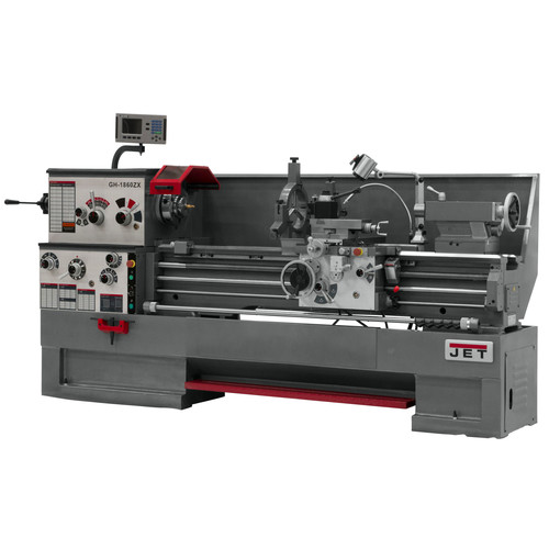 JET GH-2280ZX Lathe with DP700 DRO and Taper Attachment