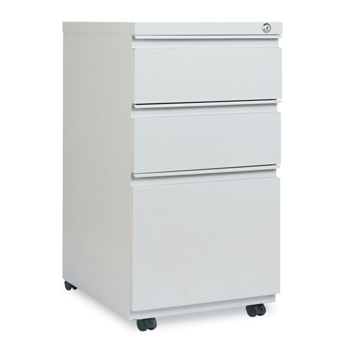 Alera ALEPBBBFLG Three-Drawer Pedestal File With Full-Length Pull, 14 7/8 X 19 1/8, Light Gray image number 0