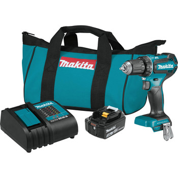 Makita XFD131 18V LXT Lithium-Ion Brushless Compact 1/2 in. Cordless Drill Driver Kit (3 Ah)