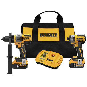 Dewalt DCK2100P2 20V MAX Brushless Cordless 1/2 in. Hammer Drill Driver / Impact Driver Combo Kit (5 Ah)