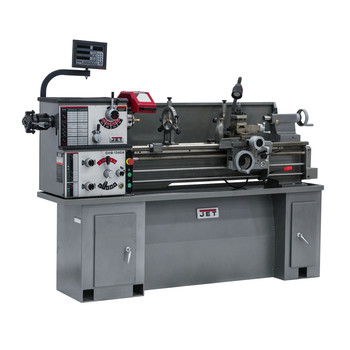JET GHB-1340A Lathe with ACU-RITE 200S DRO and Taper Attachment Installed