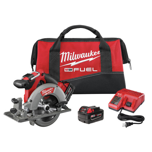 Milwaukee 2730-22 M18 FUEL 18V Cordless 6-1/2 in. Circular Saw with 2 REDLITHIUM Batteries