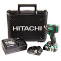 Hitachi WH18DBDL2 18V 3.0 Ah Cordless Lithium-Ion Brushless 1/4 in. Hex Triple Hammer Impact Driver Kit