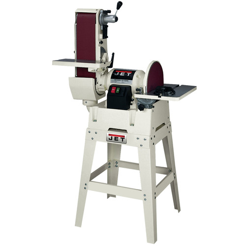 JET JSG-6DCK 6 in. x 48 in. Belt / 12 in. Disc Combination Sander with Open Stand image number 0