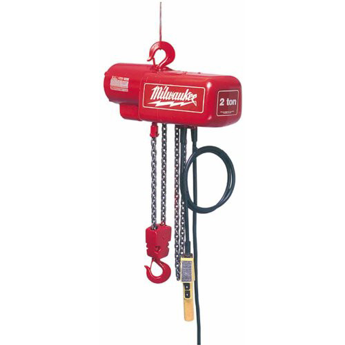 Milwaukee 9566 1 Ton Electric Chain Hoist with 10 ft. Lift Height
