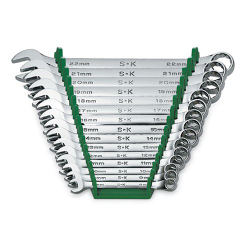 SK Hand Tool 86265 15-Piece 12-Point Metric Combination Wrench Set image number 0