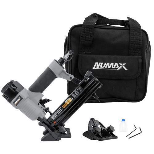 NuMax SFBC940 Pneumatic 4-in-1 18 Gauge 1-5/8 in. Mini Flooring Nailer and Stapler with Canvas Bag image number 0